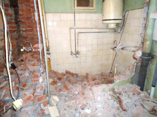 снимка Къртене на баня, плочки, фаянс или теракот