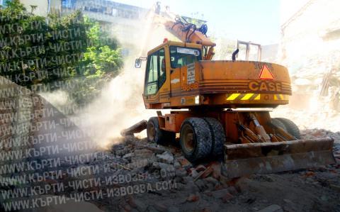 снимка чистене на строителни боклуци