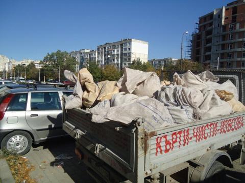 снимка Извозване на строителни отпадъци