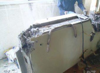 снимка разбиване на бетон