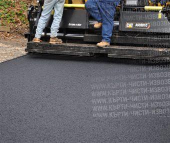 снимка полагане на асфалт