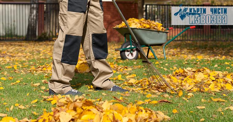 чистене на есенни листа